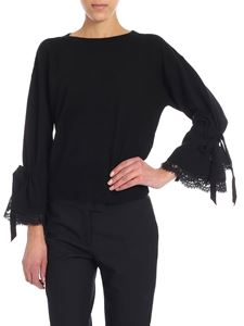 Ermanno by Ermanno Scervino - Crop pullover with wide sleeves