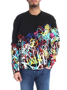 Dsquared2 - Black sweatshirt with multicolor print