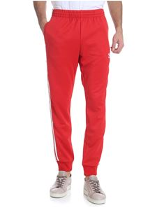 "Adidas Originals - Red ""SST Track"" trousers"