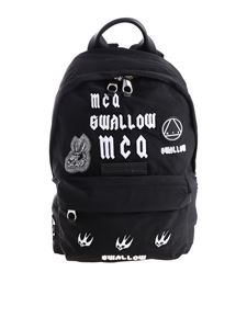 McQ Alexander Mcqueen - Black backpack with logo