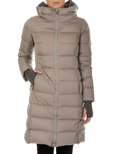 Herno - Dove grey quilted down jacket