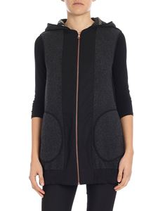 See by Chloé - Charcoal gray hooded waistcoat