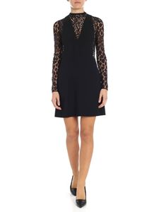 Givenchy - Black dress with lace insert