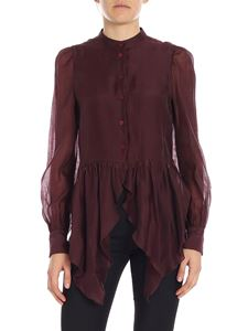 See by Chloé - Wine red viscose shirt