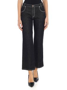 See by Chloé - Black crop jeans with veinings