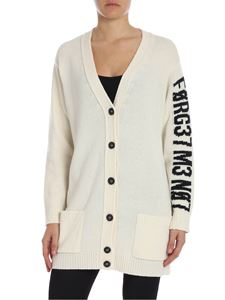 Red Valentino - Cream-colored cardigan with inlay
