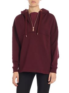 See by Chloé - Burgundy boxy sweatshirt with zip