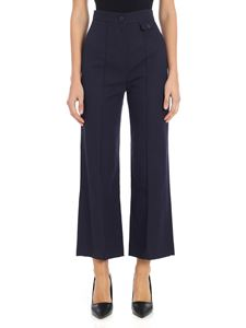 See by Chloé - Blue crop trousers with veinings