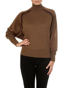 Chloé - Pullover marrone a collo alto