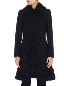 Moschino - Black virgin wool coat