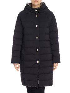 Herno - Black reversible down jacket with golden buttons