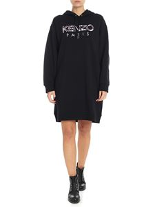 Kenzo - Black lined dress with logo