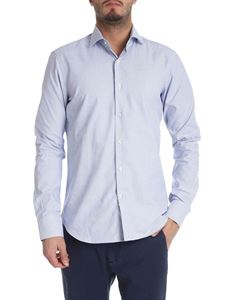 Sartoria Campo - White shirt with blue pattern