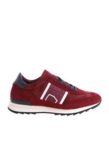 "Philippe Model - ""Toujours L"" burgundy sneakers"
