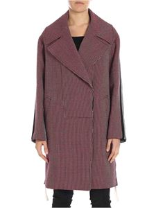 Stella McCartney - Red and black houndstooth coat