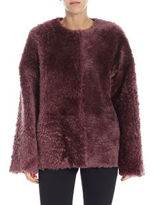 Desa 1972 - Wine-red sheepskin jacket