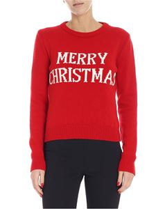 Alberta Ferretti - Merry Christmas red pullover