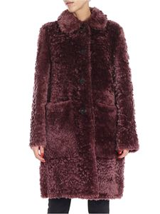 Desa 1972 - Wine-colored sheepskin coat