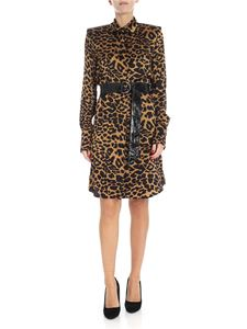 Federica Tosi - Black and brown animal printed chemisier