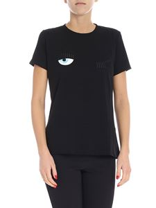 Chiara Ferragni - Black t-shirt with logo