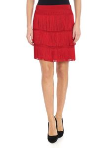 Alberta Ferretti - Red fringed skirt