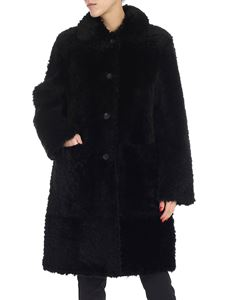 Desa 1972 - Black sheepskin coat
