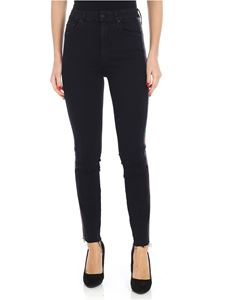 MOTHER - Black jeans with lurex details