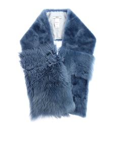 Desa 1972 - Light blue fur stole
