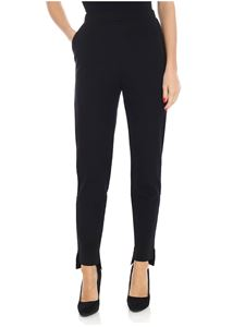 Pierantonio Gaspari - Black Milano fabric cigarette trousers