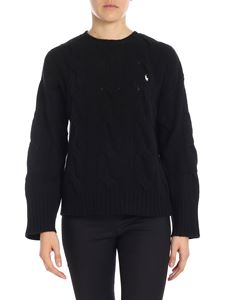 POLO Ralph Lauren - Black pullover with white logo