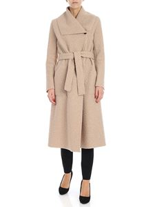 Es'Givien - Beige coat with belt