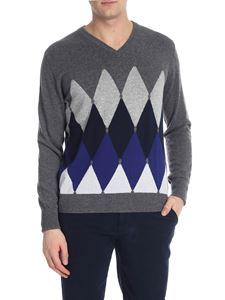 Ballantyne - Cashmere pullover with diamond inlay