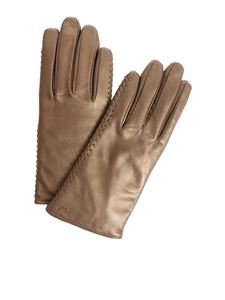 POLO Ralph Lauren - Bronze-colored leather gloves