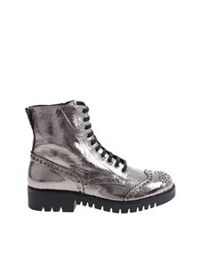 MQ Alexander Mcqueen - Silver color boots with stitching