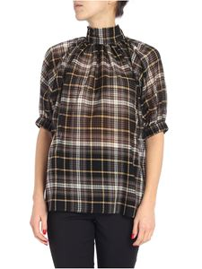 "Beaufille - Green and black checked ""Cupra"" blouse"