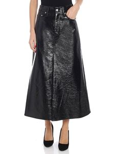 "Beaufille - Black ""Latona"" wrinkled effect skirt"