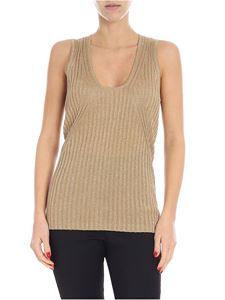 Emporio Armani - Golden lamé sleeveless top
