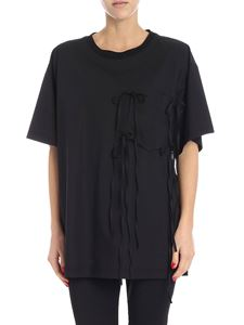 MM6 by Maison Martin Margiela - Black T-shirt with bows