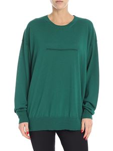 MM6 by Maison Martin Margiela - Green crew-neck sweater