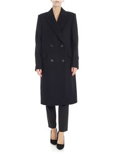 Theory - Black coat with peaked lapels