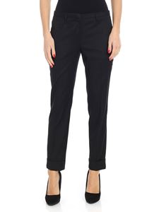 Lardini - Black trousers with rolled cuffs