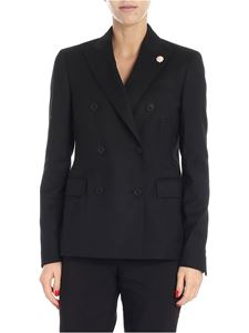 Lardini - Black double-breasted jacket