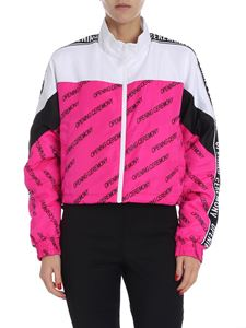 OPENING CEREMONY - White and bright pink cropped jacket