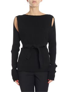 MM6 by Maison Martin Margiela - Black sweater with side slits
