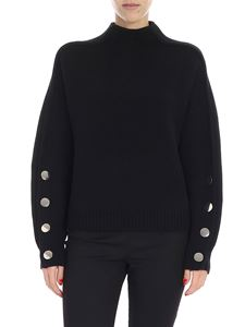 """Ba&sh - """"Astana"""" black pullover with metal buttons"""