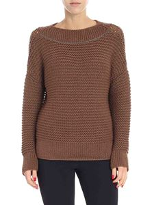 Fabiana Filippi - Brown pullover with micro-beads