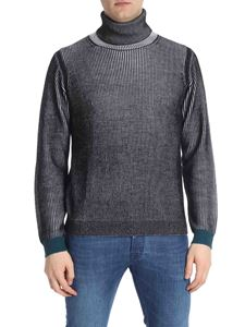 PS by Paul Smith - Black and white tricot turtleneck