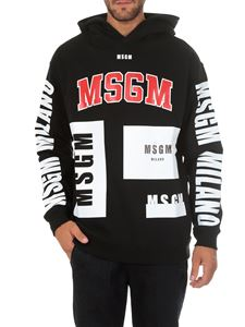 MSGM - Branded black sweatshirt