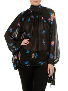 MSGM - Black blouse with nude effect