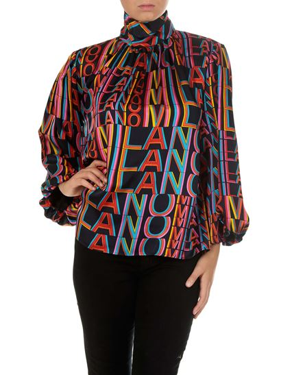 MSGM - Printed overfit blouse